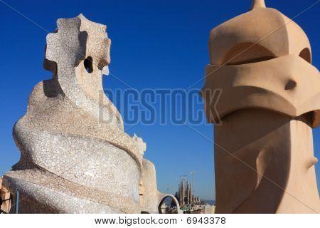 Barcelona und Gaudi: la Pedrera oder die Casa Mila