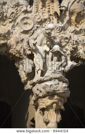 Barcelona - holy family form portal of sagrada la familia from Gaudi