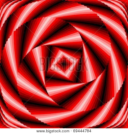 Design Colorful Vortex Circular Movement Illusion Background