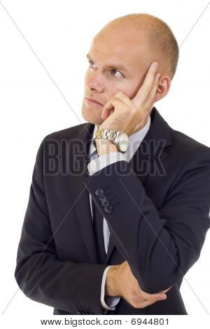 Worried Businessman Thinking