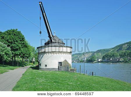 Wine Crane,Rhine River,Andernach,Germany