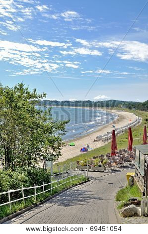 Beach of Sellin,Ruegen Island,Germany