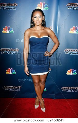 NEW YORK-JUL 30: Singer Mel B. attends the 'America's Got Talent' post show red carpet at Radio City Music Hall on July 30, 2014 in New York City.