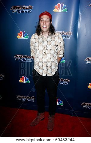 NEW YORK-JUL 30: Comedian Darik Santos attends the 'America's Got Talent' post show red carpet at Radio City Music Hall on July 30, 2014 in New York City.