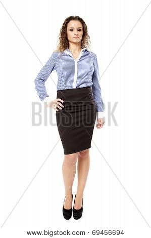 Confident Businesswoman With Hand On Hip