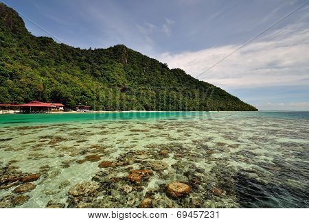 Scenic view of Sabah Borneo Island