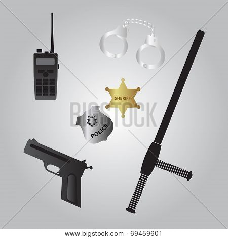 Police Equipment Icon Eps10