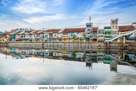 Binh Dong port at morning
