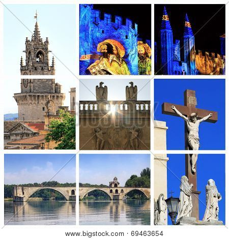 Photo Collage Of Avignon -  South Of France