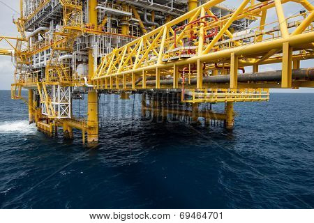 The production plant or process in offshore oil and gas industry