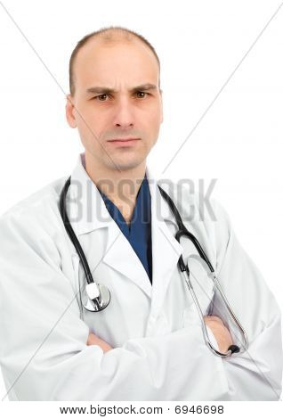 Doctor With A Disapproving Expression