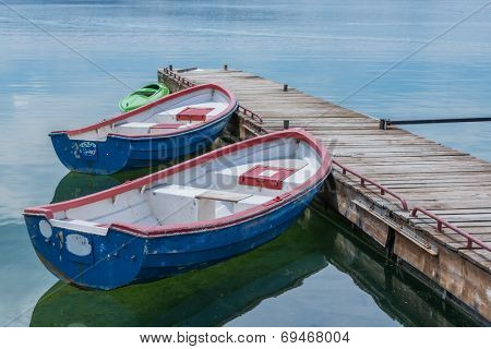 boats in pier close up