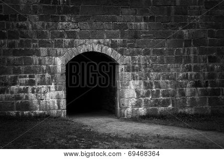 Entry In Stone Wall