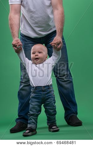 Little baby boy first steps