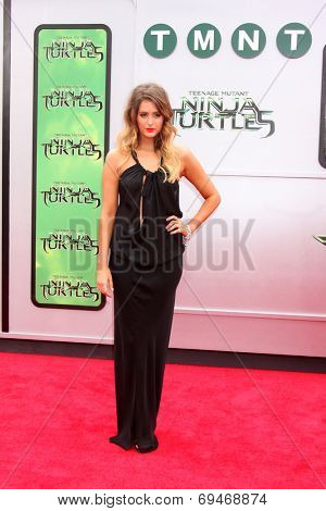 LOS ANGELES - AUG 3:  Moxie Raia at the Teenage Mutant Ninja Turtles Premiere at the Village Theater on August 3, 2014 in Westwood, CA