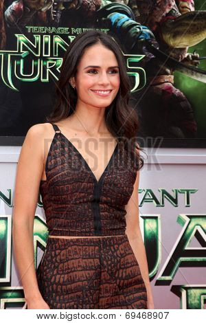 LOS ANGELES - AUG 3:  Jordana Brewster at the Teenage Mutant Ninja Turtles Premiere at the Village Theater on August 3, 2014 in Westwood, CA