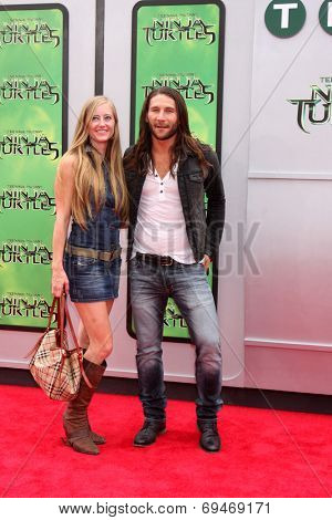 LOS ANGELES - AUG 3:  Zach McGowan at the Teenage Mutant Ninja Turtles Premiere at the Village Theater on August 3, 2014 in Westwood, CA
