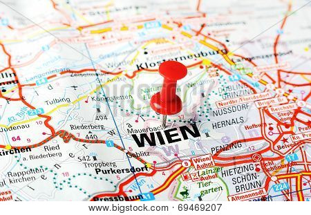 Wien ,austria Map