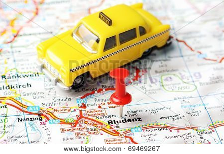 Bludenz ,austria Map Taxi