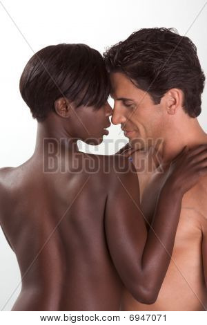 Young Couple Naked Man And Woman In Love