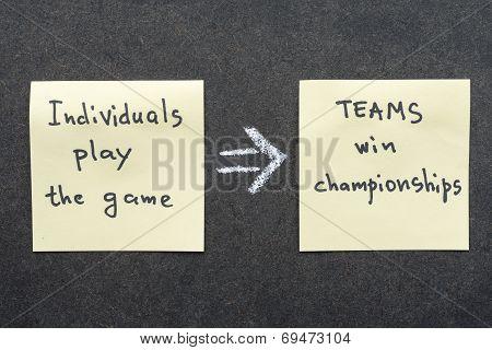 Teams Win