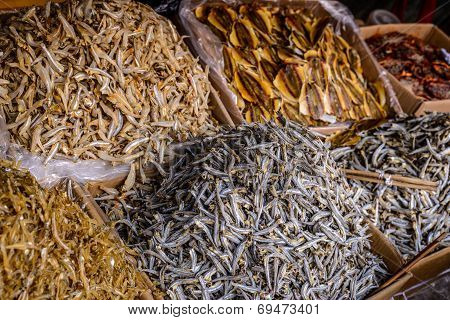 Dried Fish On A Se Asia Market