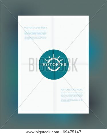 Best Offer Label On Folded Paper, Vector