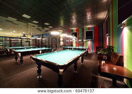 Interior Of Beautiful And Modern Billiard