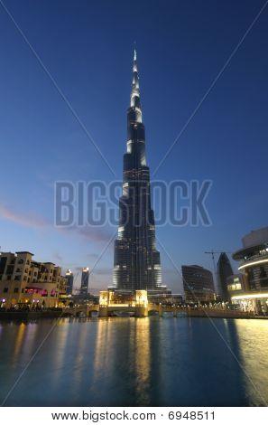 Burj Khalifa At Dusk, Dubai
