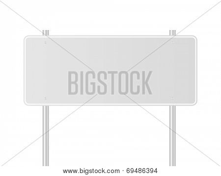 Light gray traffic sign vector illustration