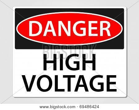 Danger high voltage sign vector illustration