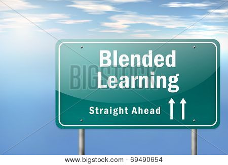 Highway Signpost Blended Learning