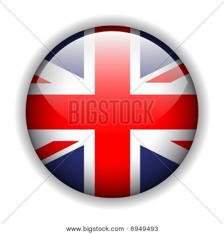 England UK flag button, vector