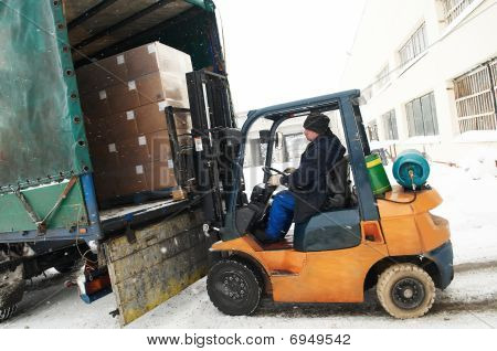 Warehouse Forklift Loader Work