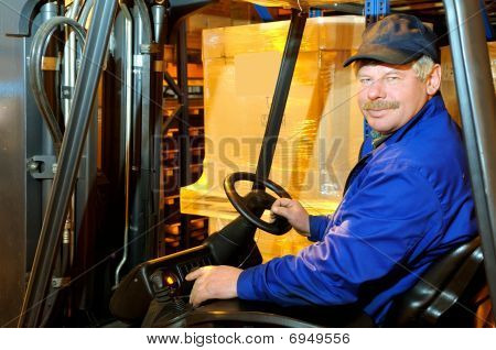 Loader Worker At Warehouse