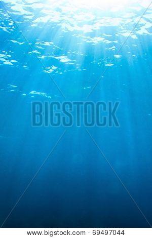 Underwater blue background photo