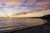 picture of florida-orange  - Sunrise At Sanibel Island - JPG