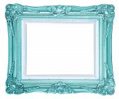 image of white gold  - antique gold frame isolated on white background clipping path - JPG