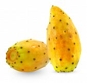 picture of prickly-pear  - ripe prickly pear on a white background - JPG