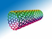 stock photo of graphene  - Carbon nanotube - JPG
