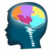 stock photo of cognitive  - Illustration of a child - JPG