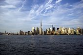 image of freedom tower  - Freedom Tower and NYC skyline viewed from New Jersey - JPG