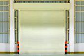 image of roller shutter door  - Shutter door or rolling door - JPG