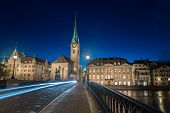 picture of zurich  - Twilight view of Zurich - JPG