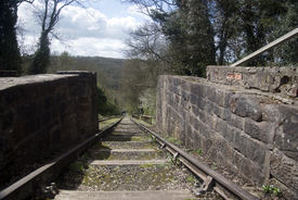 image of coal barge  - Victorian Coal Mine Railway which carried coal from the mine to the barge