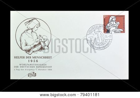 German first day cover letter 1956