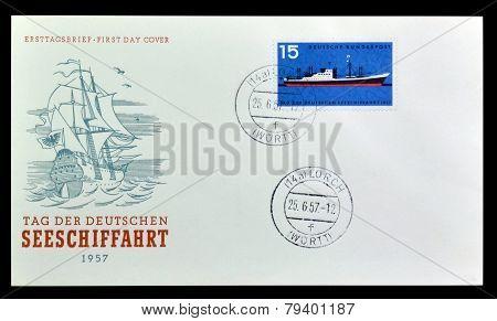 Modern Passenger Freighter 1957