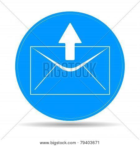 envelope mail symbol on white background