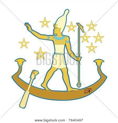 Pharaoh In The Boat