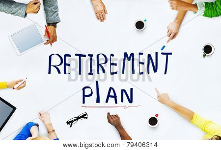 Ethnicity People Retirement Plan Brainstorming Discussion Concept
